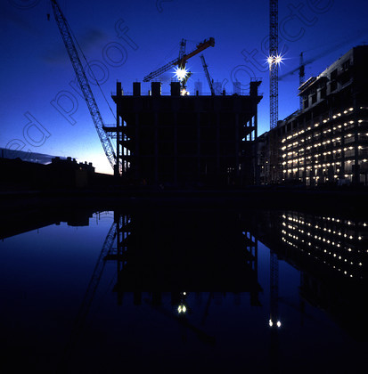 Site at night 